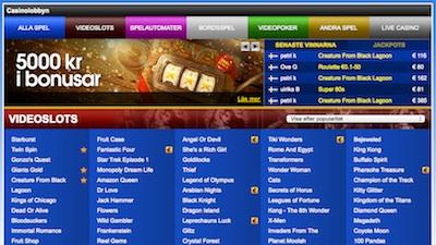 Sverigeautomaten lobby
