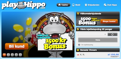 PlayHippo screen