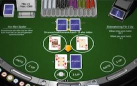 2 Up sidospel blackjack