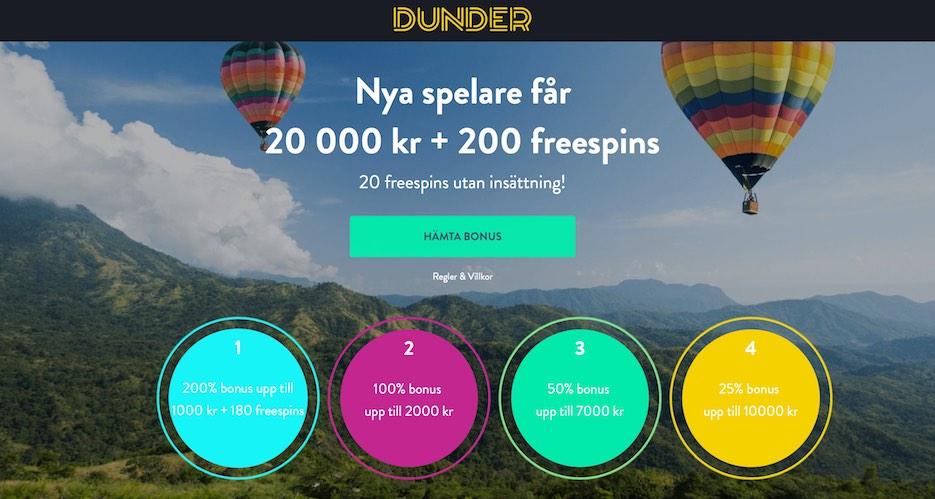Dunder bonus