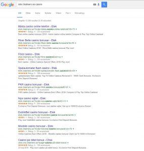 Resultaten i google för chalmers