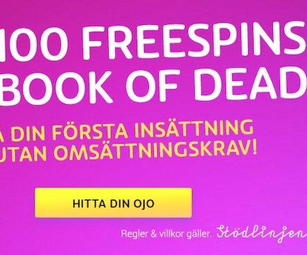 PlayOJO släpper ny bonus – 100 freespins